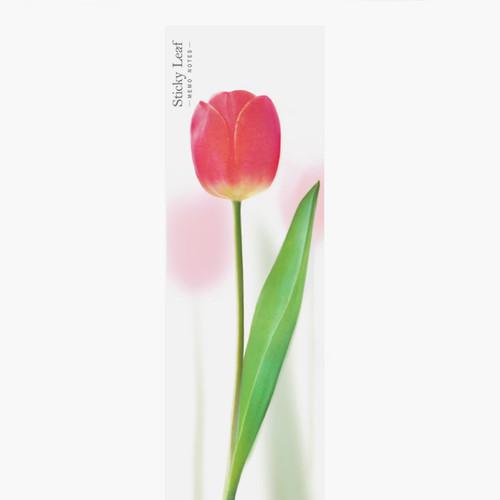 Appree Pink tulip sticky memo notes