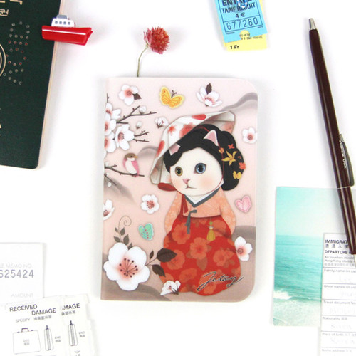Jetoy Choo choo cat petite passport case