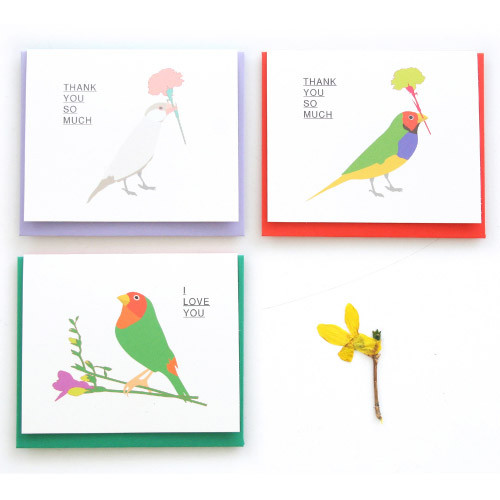 Bird message card