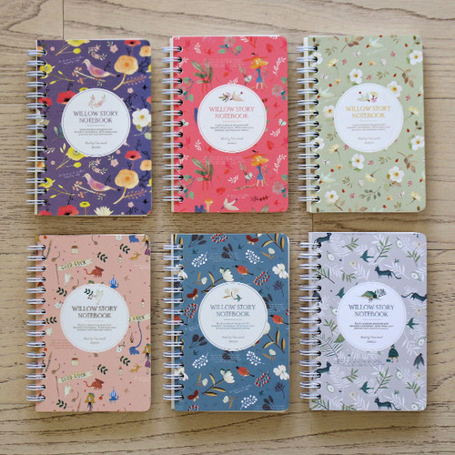 Willow story wirebound pattern small notebook