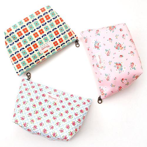 Flower pattern zipper pouch - Large