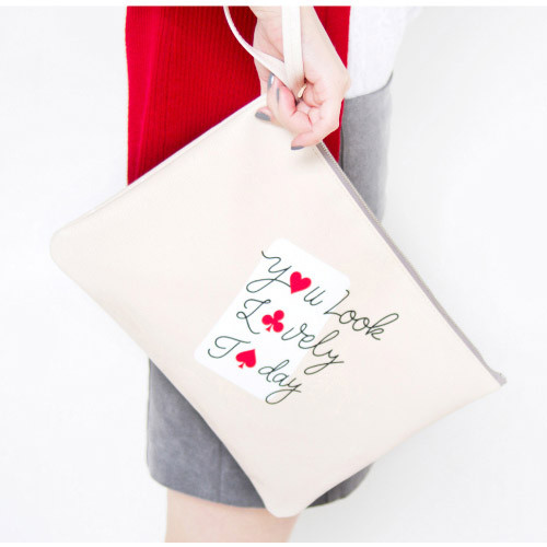 Honey beige - Be mine clutch bag pouch