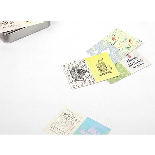 Vintage paper sticker set ver.2