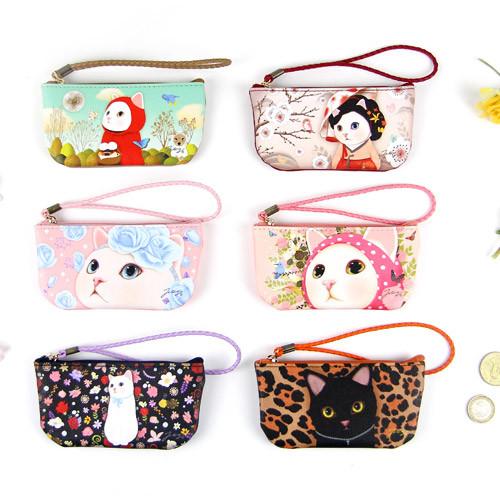Choo Choo cat vanilla candy zipper pouch