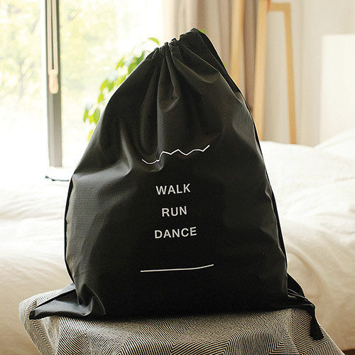 Walk run dance drawstring shoes pouch