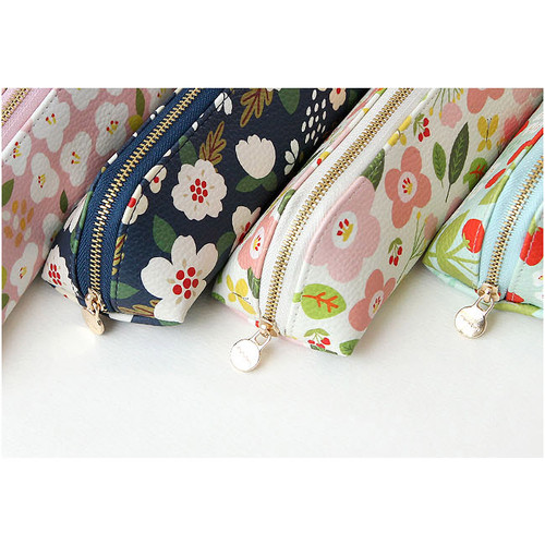 Breezy windy semo flower pattern pencil case