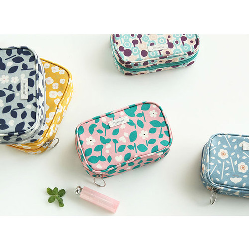 Bonne promenade cotton cosmetic makeup pouch