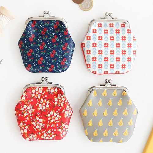 Unique pattern frame coin purse