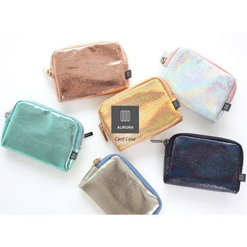 Aurora glitter small card case