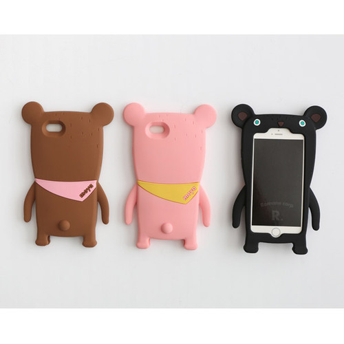 Monowave cute bear moya iPhone 6 jelly case