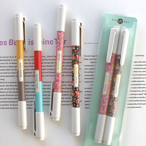 Bright color twin gel pen set