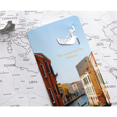 The lagooon city venezia steel bookmark