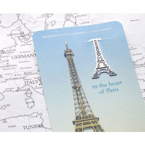 In the heart of paris steel bookmark