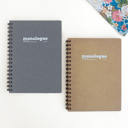 Monologue wirebound plain notebook