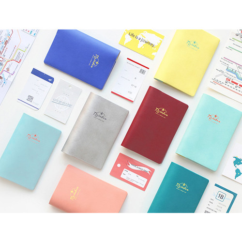 Travel rainbow passport cover case