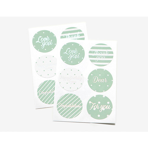 circle message paper sticker ver.3 (mint)