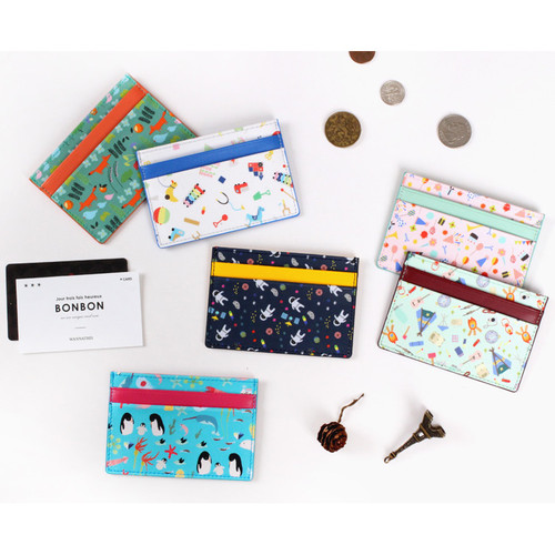 Bon Bon pattern flat card case holder