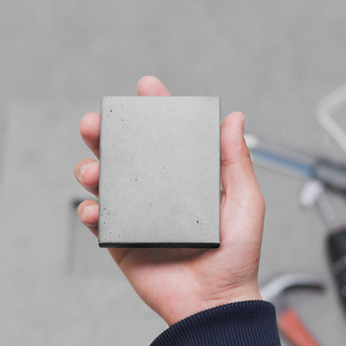 Concrete pocket memo pad