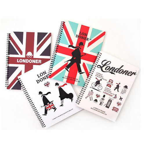 London wirebound lined notebook