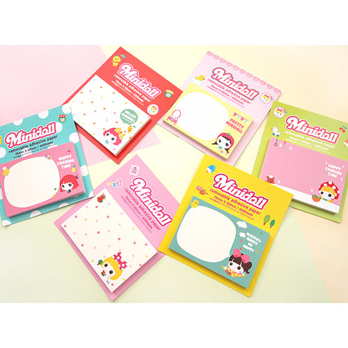 Cute girl sticky memo notes