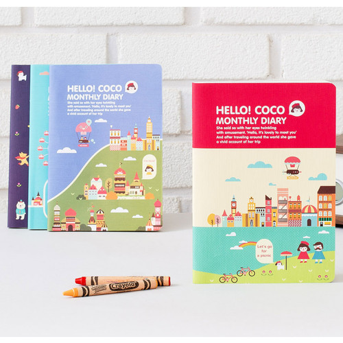 2016 Hello coco monthly dated diary