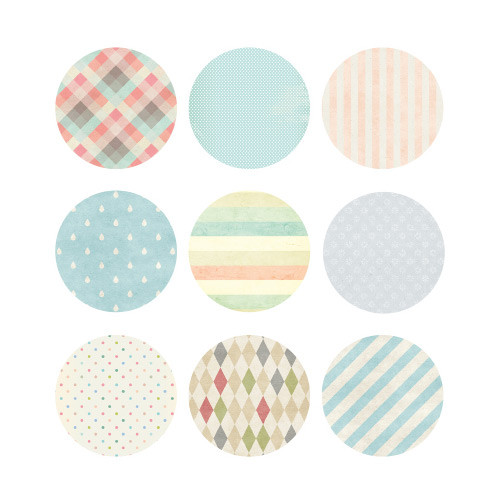 Page25 Natural and Pure round deco sticker set