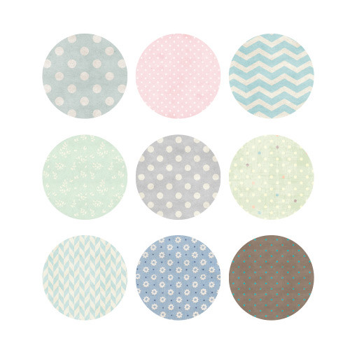 Natural and Pure round deco sticker set 02