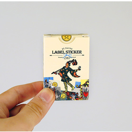 Vintage tarot label paper sticker set