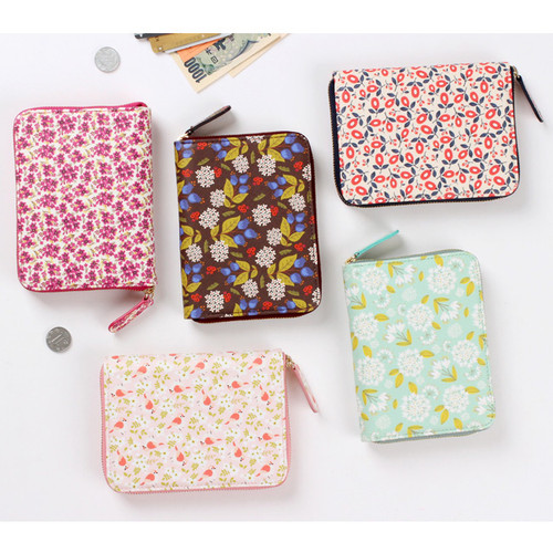 Pour vous melody pattern zip around wallet