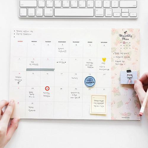 Desk pattern undated monthly planner