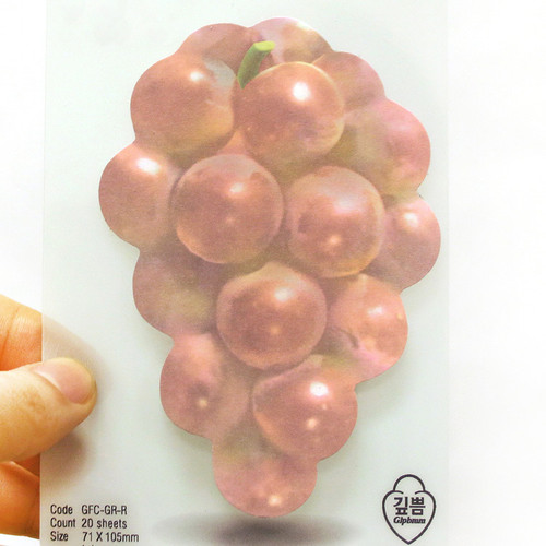 Grape sticky memo notes