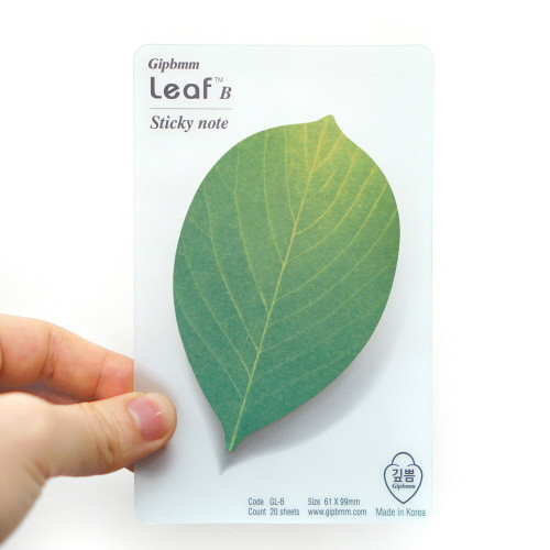 Leaf sticky memo notes 20 sheets - B