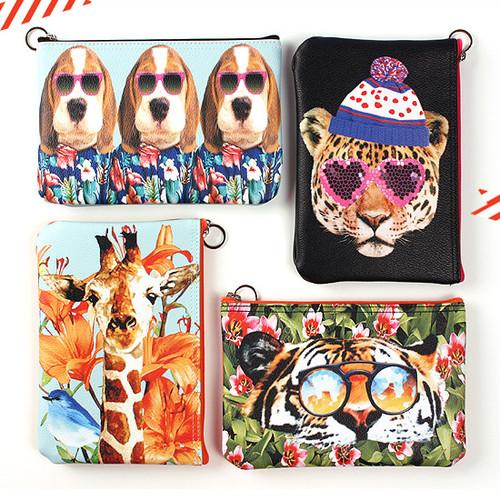 Fashionable animal zipper pouch