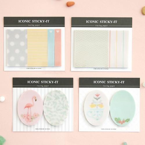 Translucent tracing paper sticky memo