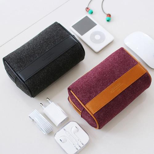 The Basic felt multi pouch bag ver.4