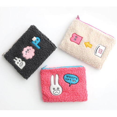 Brunch brother cute square zipper pouch