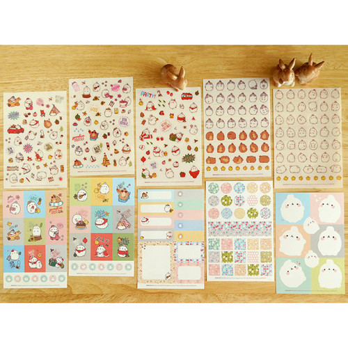 Molang cute deco sticker set ver.3