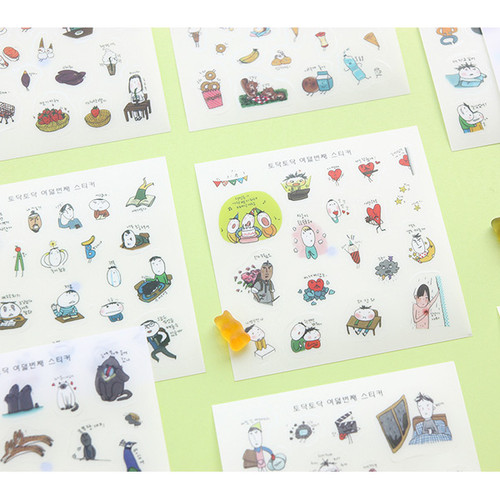 Todac Todac transparent deco sticker set
