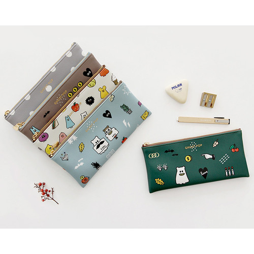Ghost pop zipper pouch S ver.2