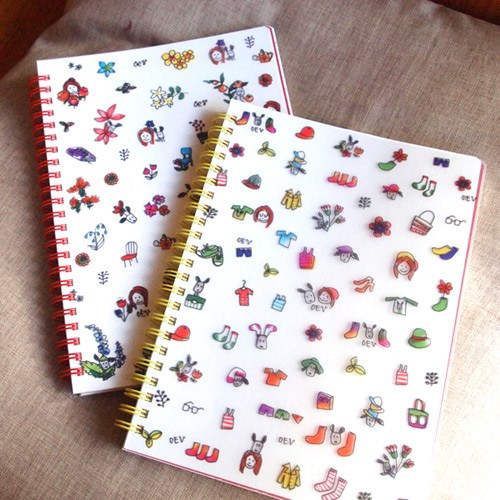 Odong et valerie wirebound lined notebook