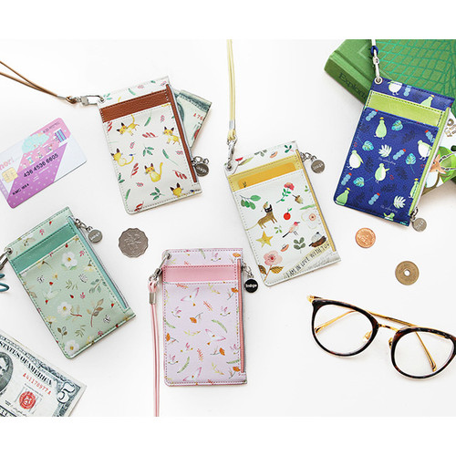 Willow story pattern zip flat card holder case ver.3