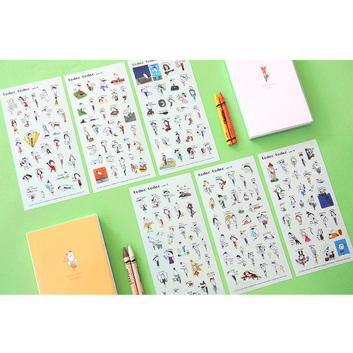 Todac Todac transparent deco sticker set ver.5