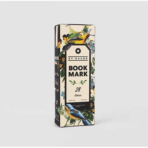 Bird vintage bookmark set