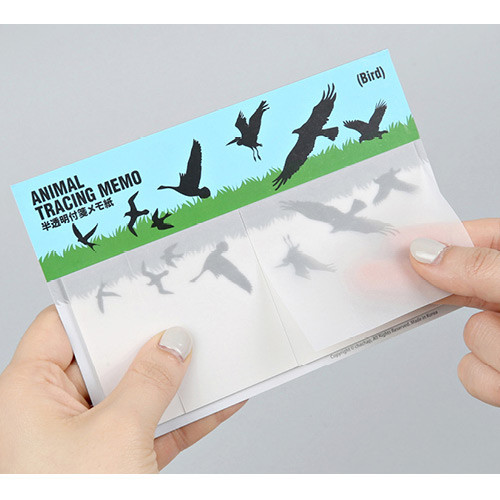 Animal translucent sticky memo note set