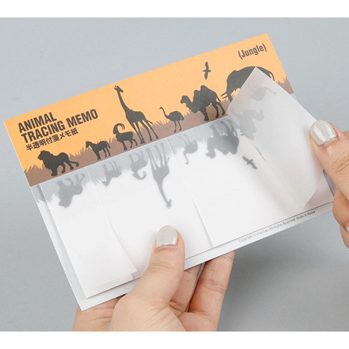 Animal translucent sticky memo note set - Jungle