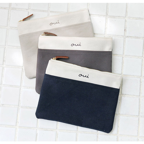 Around'D pocket zipper pouch