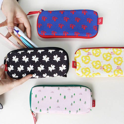 Rim pattern cotton pen pencil case
