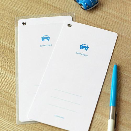 Car maintenance record memo card