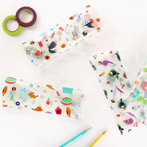 Bon Bon clear folding pencil case