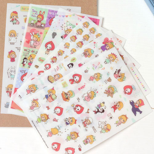Alice in wonderland deco sticker set